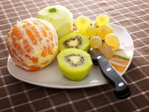 Peeled fruit Royalty Free Stock Image