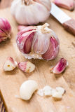 Peeled Garlic Royalty Free Stock Photo