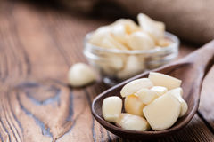 Peeled Garlic Stock Photo