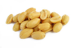 Peeled gesalzene Erdnüsse Lizenzfreies Stockfoto