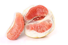 The peeled grapefruit Stock Photos