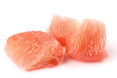 The peeled grapefruit Stock Photography