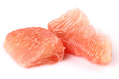 The peeled grapefruit Royalty Free Stock Photos