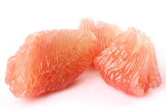 The peeled grapefruit Stock Image