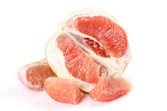 The peeled grapefruit Royalty Free Stock Images