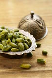Peeled green pistachio nuts Royalty Free Stock Photography