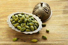 Peeled green pistachio nuts Stock Photo