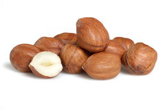 Peeled hazelnut Royalty Free Stock Photos