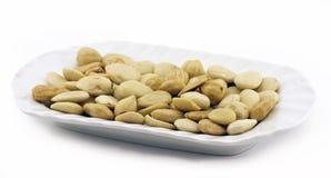 Peeled hazelnuts and almonds Royalty Free Stock Image