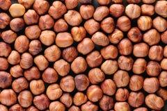 Peeled hazelnuts background Royalty Free Stock Image