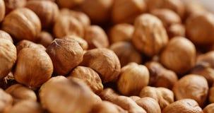 Peeled hazelnuts close up background Royalty Free Stock Photo