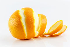 Peeled lemon fruit Royalty Free Stock Photography