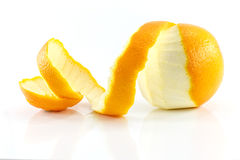 Peeled lemon fruit Royalty Free Stock Photos