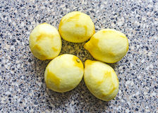 Peeled lemons Royalty Free Stock Images