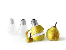 Peeled Light Bulb Royalty Free Stock Photography