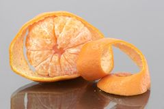 Peeled Mandarin Royalty Free Stock Photography
