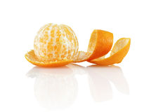 Peeled mandarin royalty free stock images
