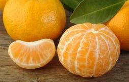 Peeled mandarin  fruit Stock Image