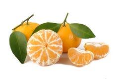 Peeled mandarin  fruit Stock Photo
