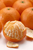 Peeled mandarin. Royalty Free Stock Images