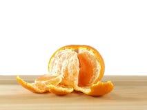 Peeled mandarin isolated Royalty Free Stock Image