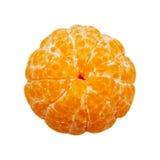 Peeled mandarin isolated on the white background Royalty Free Stock Images