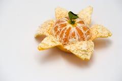 Peeled mandarin orange Stock Photography