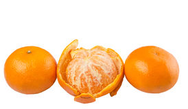 Peeled Mandarin Orange Fruit IX Stock Photography