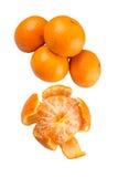 Peeled Mandarin Orange Fruit VIII Stock Photo