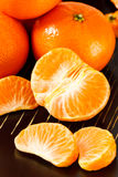 Peeled Mandarin Orange Sections Stock Photo