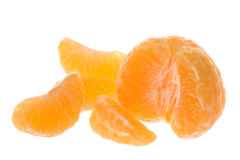 Peeled Mandarin Oranges Isolated Stock Photos
