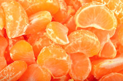 Peeled mandarin Stock Photography