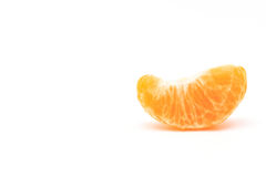 Peeled mandarin segment Royalty Free Stock Image
