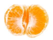 Peeled mandarin tangerine orange fruit isolated Stock Photos