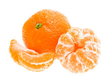 Peeled mandarin tangerine orange fruit Royalty Free Stock Photos