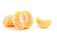 Peeled mandarin,thai orange on white background Stock Image