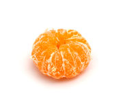 Peeled mandarin on a white background Stock Images