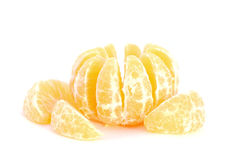 Peeled Mandarine Stock Photography