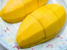 Peeled mango Stock Photos