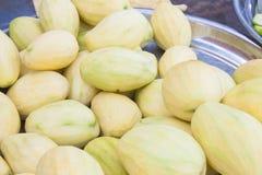 Peeled mangos Stock Images