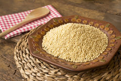 Peeled millet from organic farming Royalty Free Stock Photography