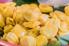 Peeled off Jackfruit in the local market Royalty Free Stock Image