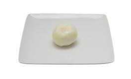 Peeled onion Stock Image