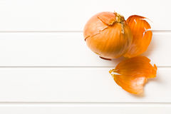 Peeled onion Stock Photos