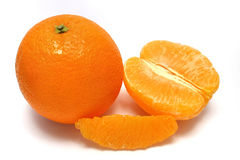 Peeled Orange Royalty Free Stock Image