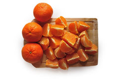 Peeled orange Stock Photo