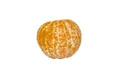 Peeled orange fresh tasty mandarin isolated Royalty Free Stock Photo