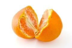 Peeled orange fruit Royalty Free Stock Photos