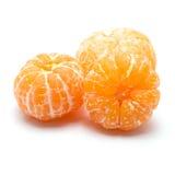 Peeled orange on white background Royalty Free Stock Photos