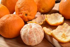 Peeled oranges Royalty Free Stock Photos